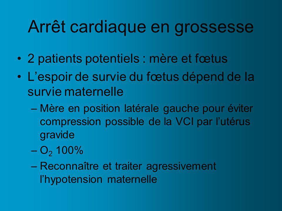 Arrêt cardiaque en grossesse