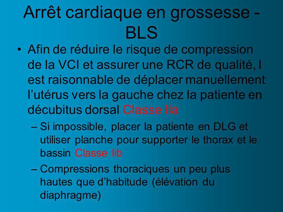 Arrêt cardiaque en grossesse - BLS