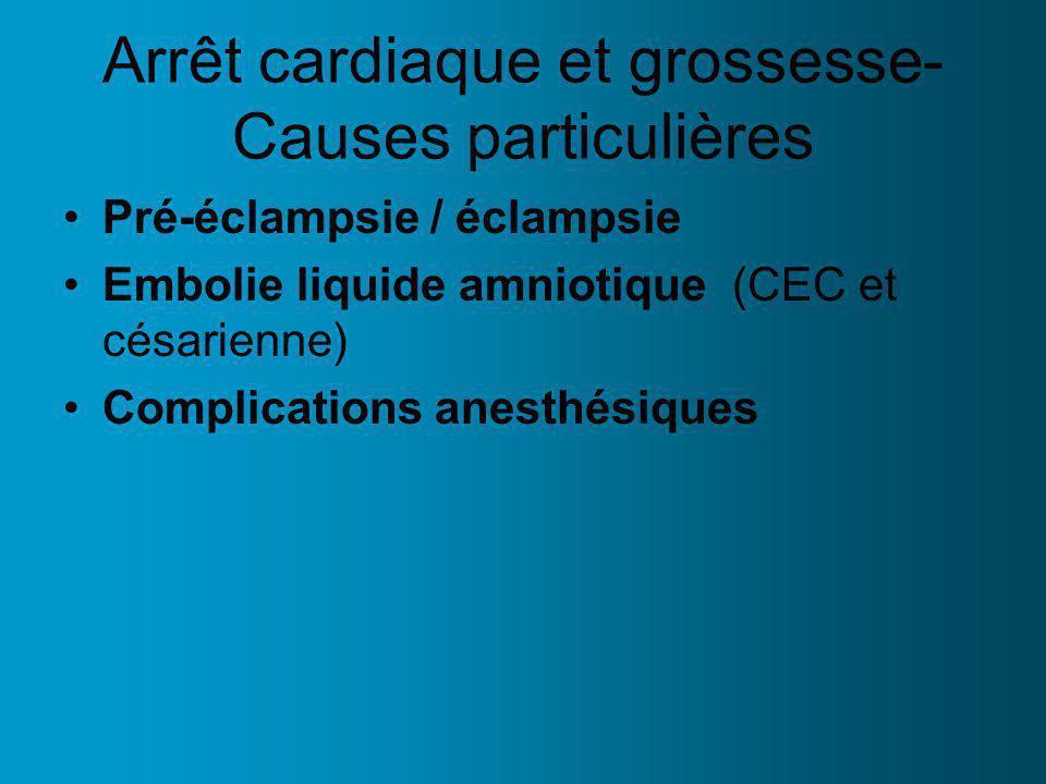 Arrêt cardiaque et grossesse- Causes particulières