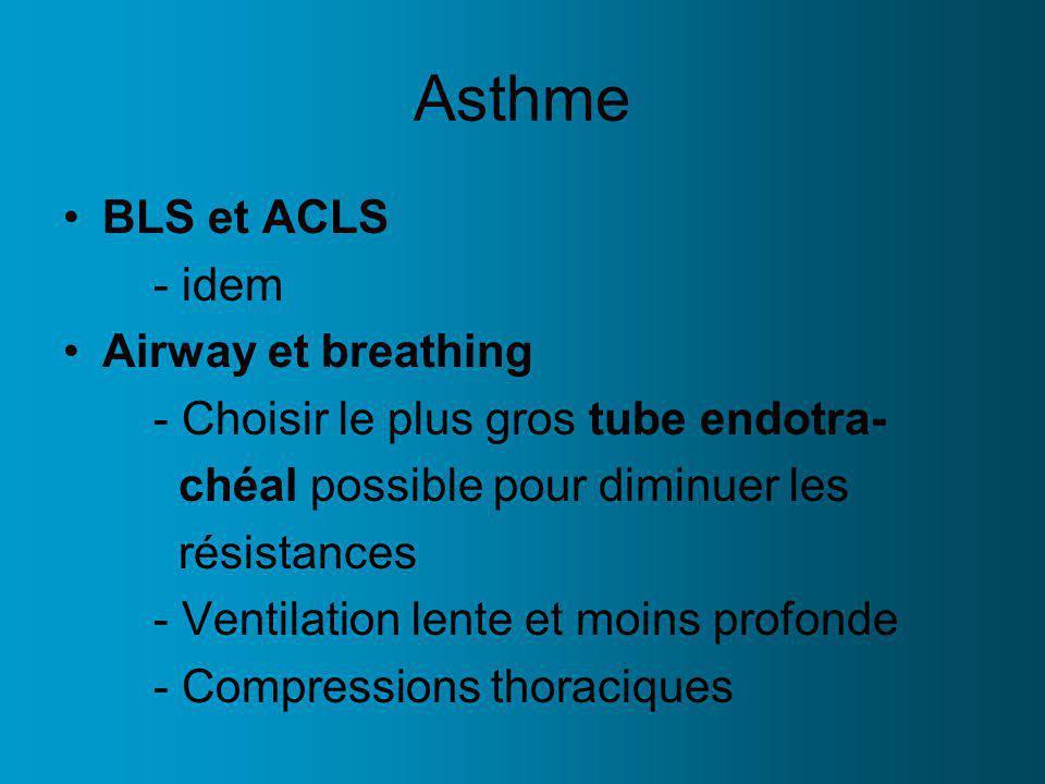 Asthme BLS et ACLS - idem Airway et breathing