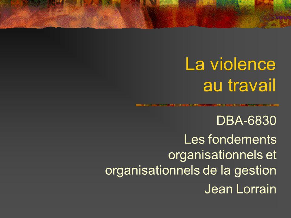 La violence au travail DBA-6830