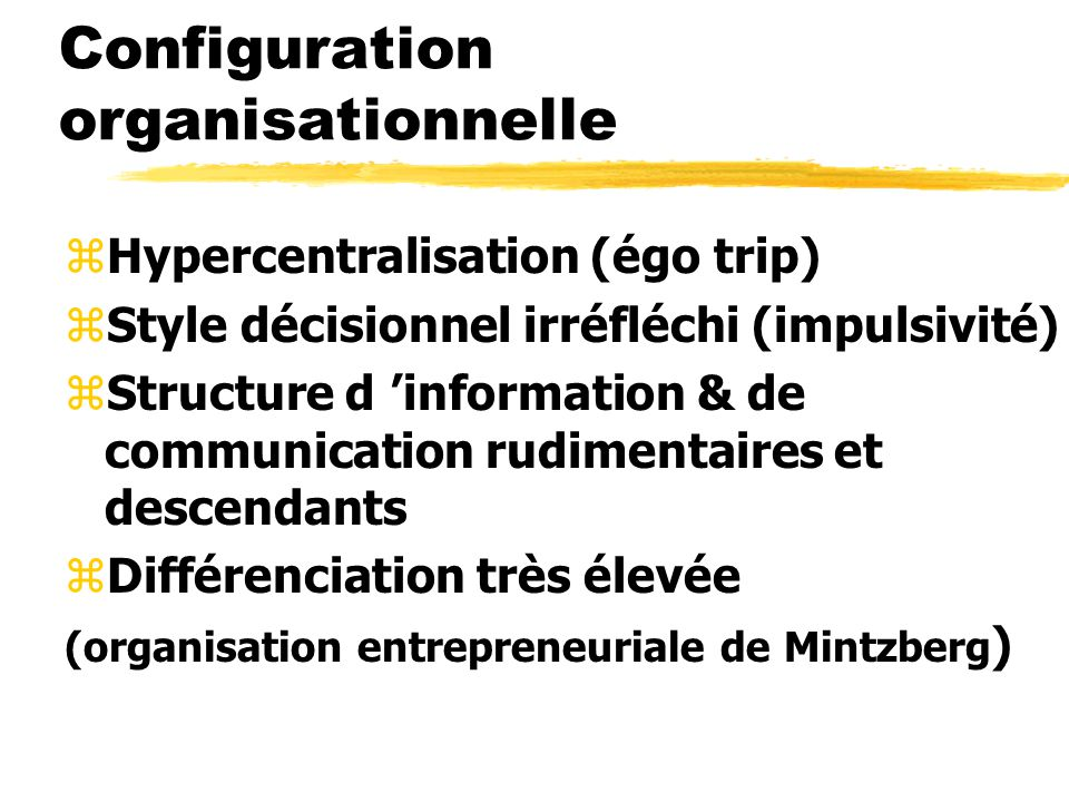 Configuration organisationnelle