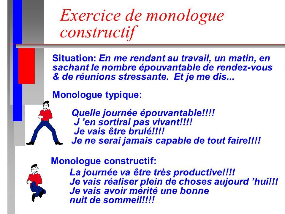 Exercice de monologue constructif