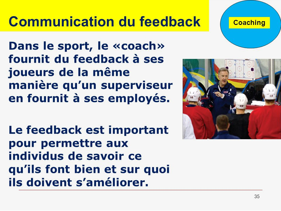 Communication du feedback