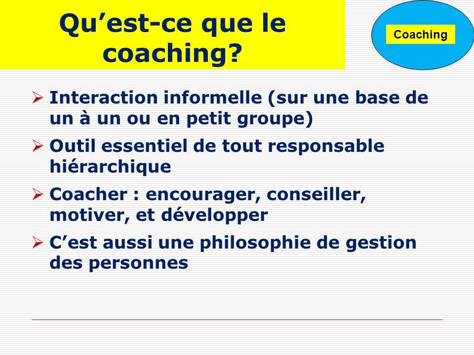 Qu'est-ce que le coaching