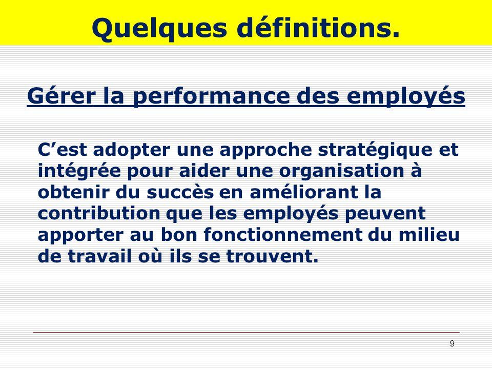 Gérer la performance des employés