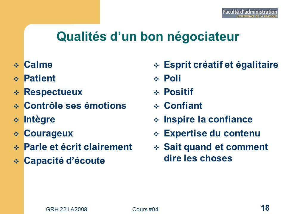 Qualités d'un bon négociateur