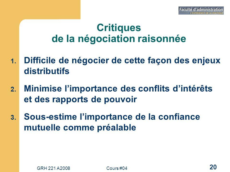Critiques de la négociation raisonnée