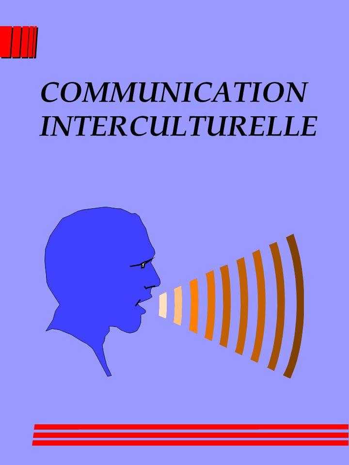 COMMUNICATION INTERCULTURELLE