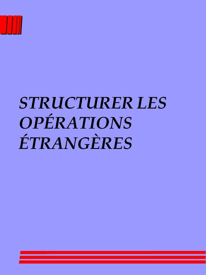 STRUCTURER LES OPÉRATIONS ÉTRANGÈRES