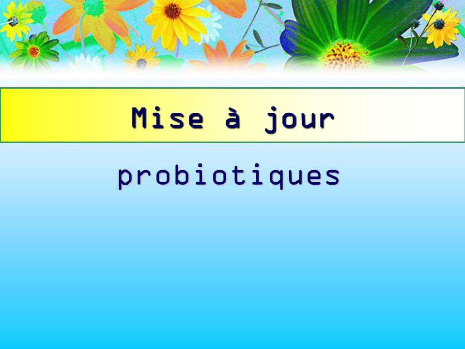 Mise à jour probiotiques