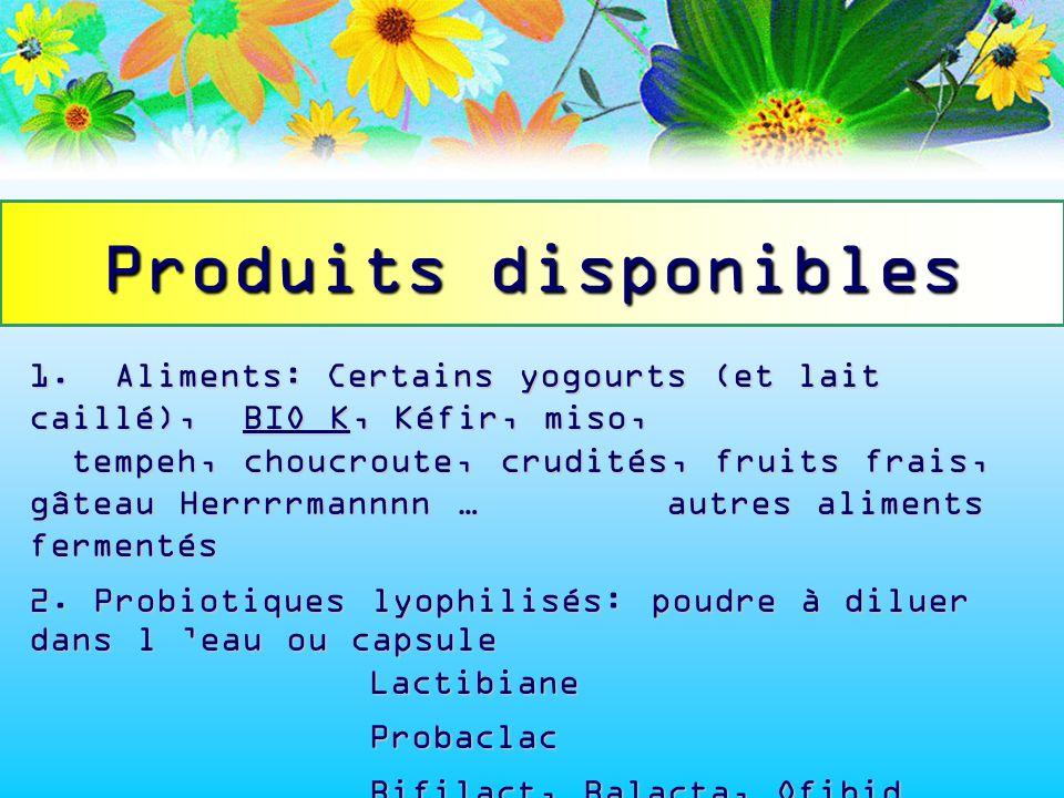 Produits disponibles