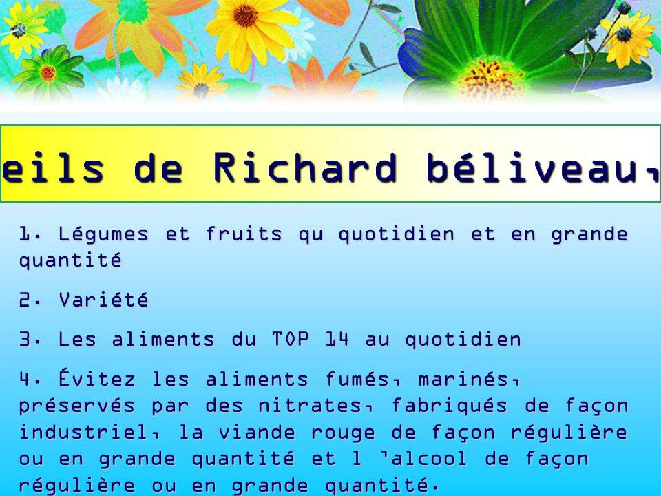 conseils de Richard béliveau, PhD