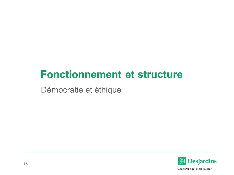 Fonctionnement et structure