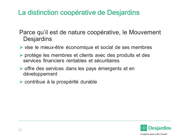 La distinction coopérative de Desjardins
