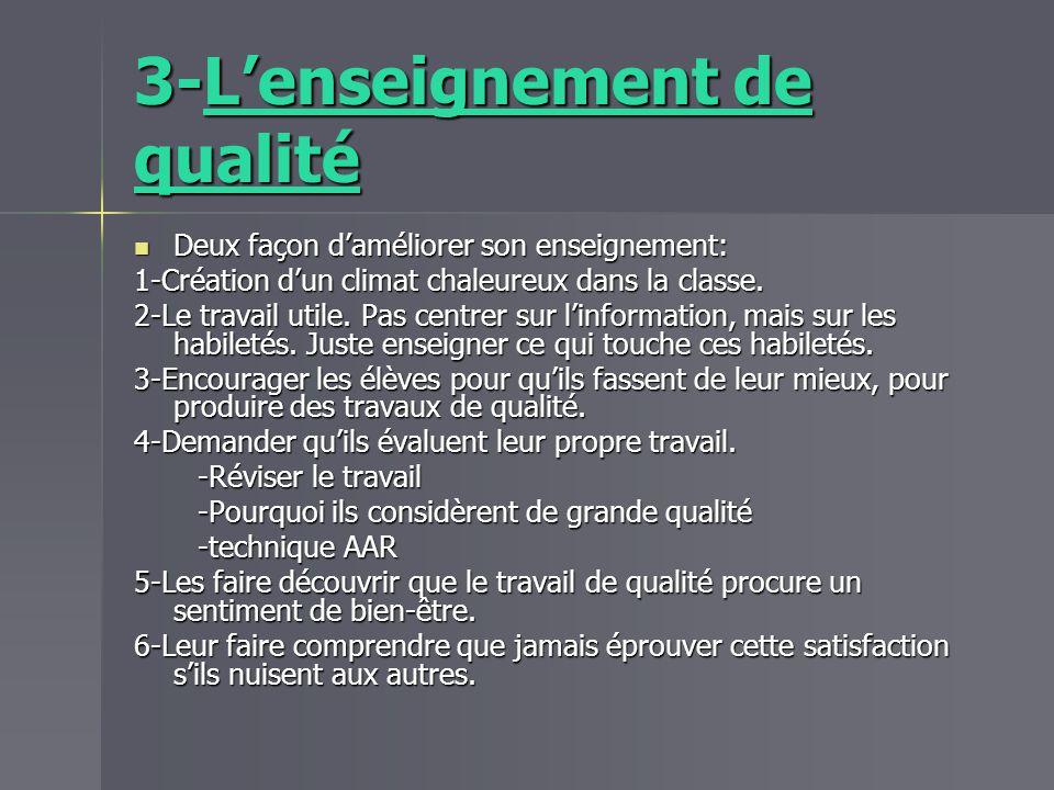 3-L'enseignement de qualité