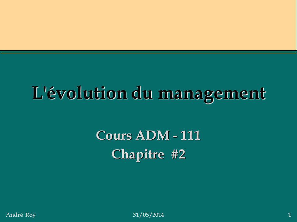 L évolution du management