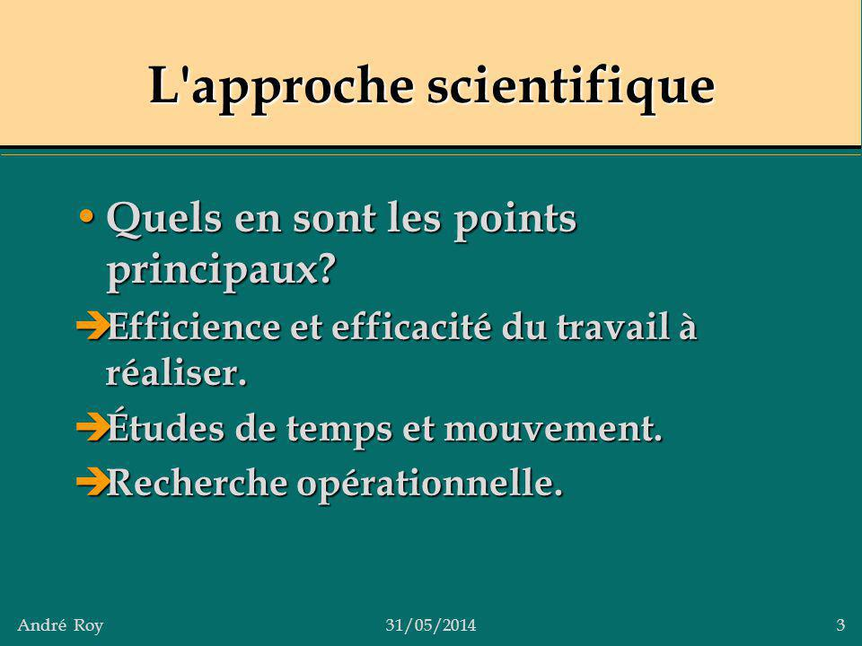 L approche scientifique
