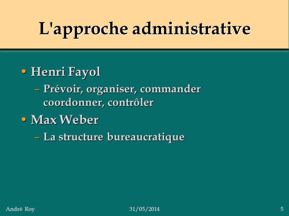 L approche administrative