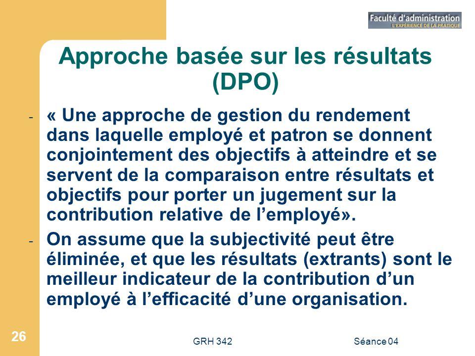 Approche basée sur les résultats (DPO)
