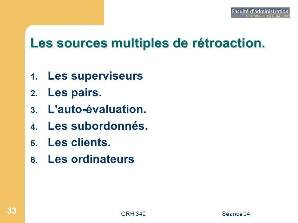 Les sources multiples de rétroaction.
