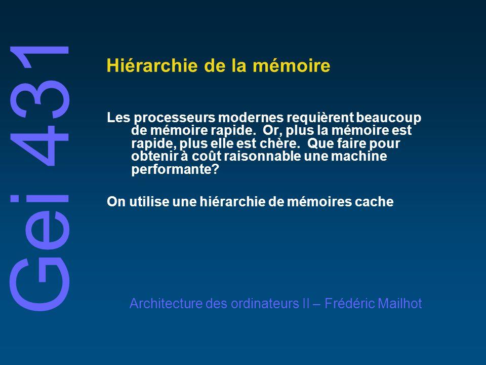 Hiérarchie de la mémoire