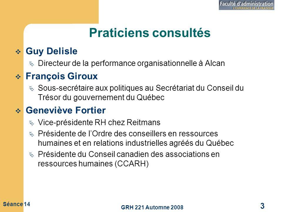 Praticiens consultés Guy Delisle François Giroux Geneviève Fortier
