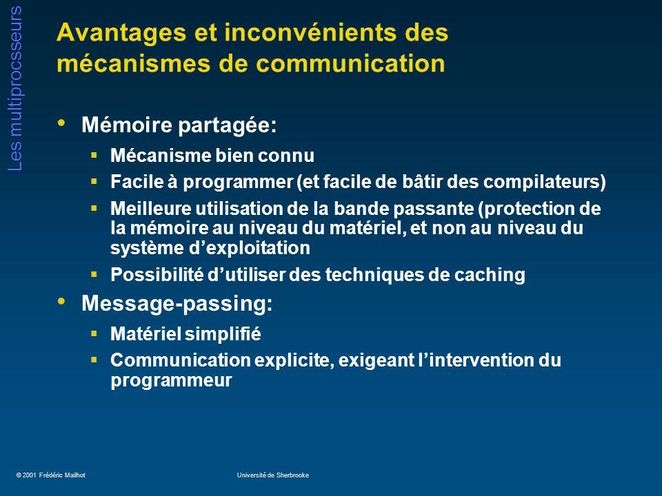 Avantages et inconvénients des mécanismes de communication