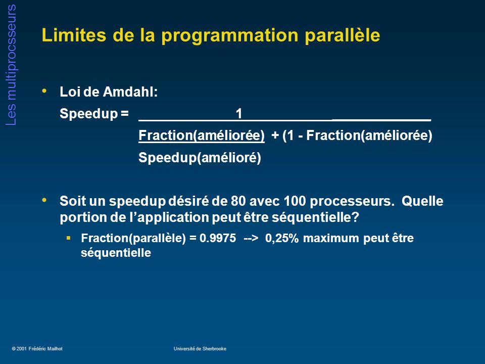 Limites de la programmation parallèle