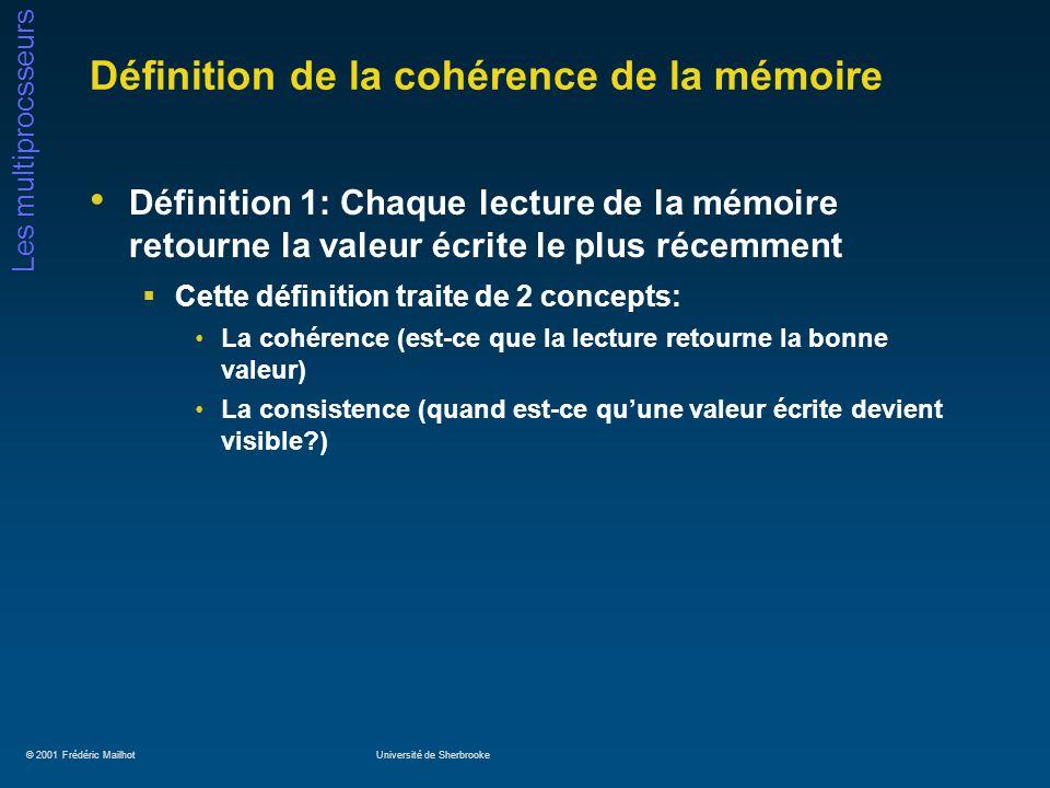 Définition de la cohérence de la mémoire