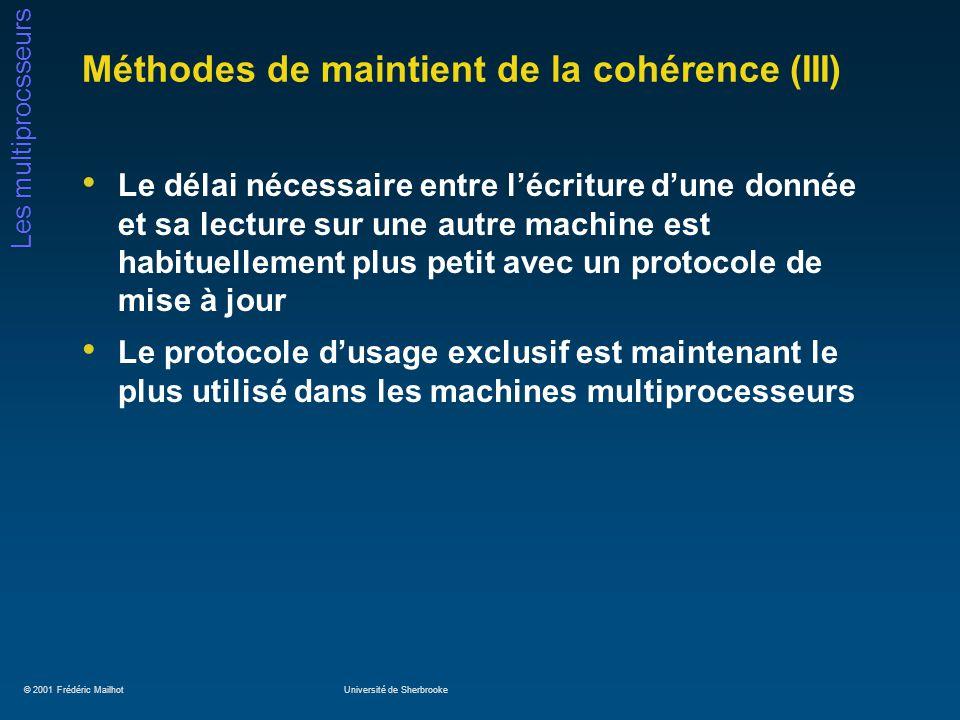 Méthodes de maintient de la cohérence (III)