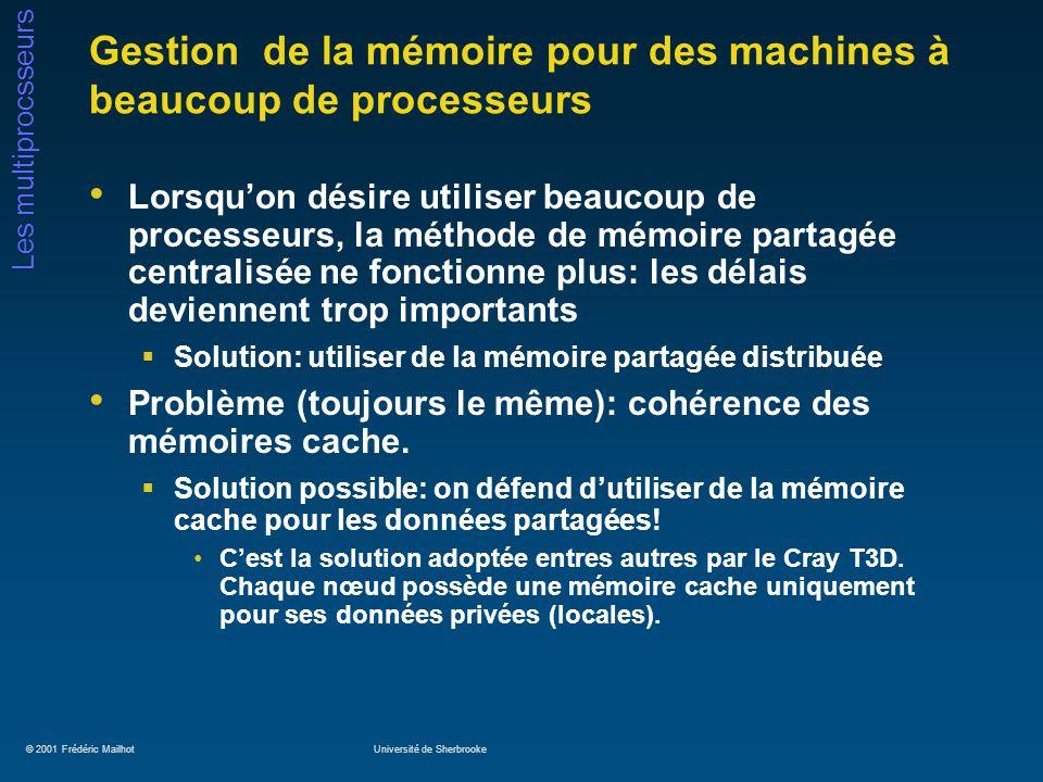Gestion de la mémoire pour des machines à beaucoup de processeurs