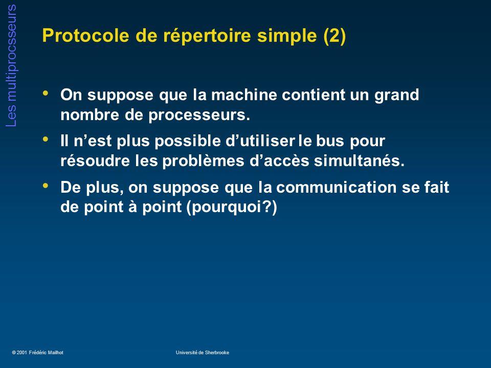 Protocole de répertoire simple (2)