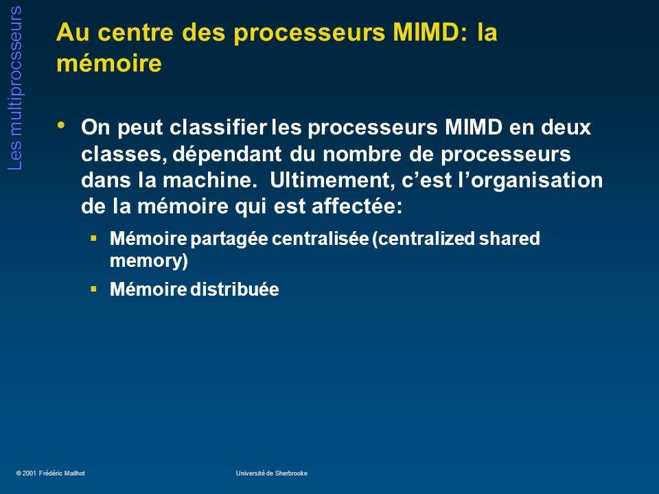 Au centre des processeurs MIMD: la mémoire