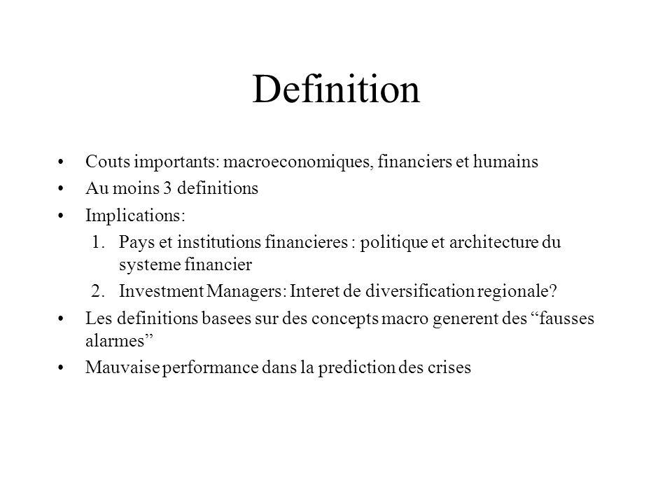 Definition Couts importants: macroeconomiques, financiers et humains