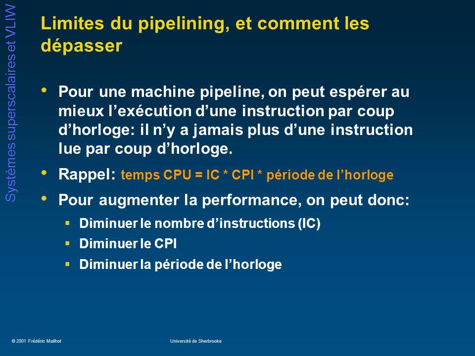 Limites du pipelining, et comment les dépasser