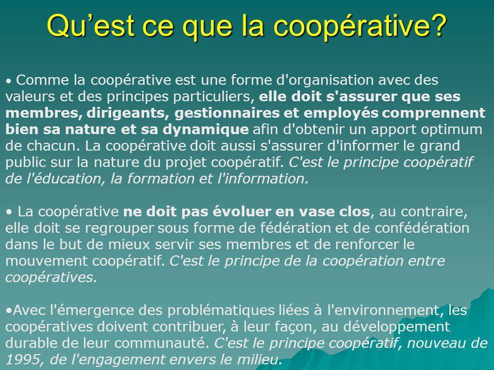 Qu'est ce que la coopérative