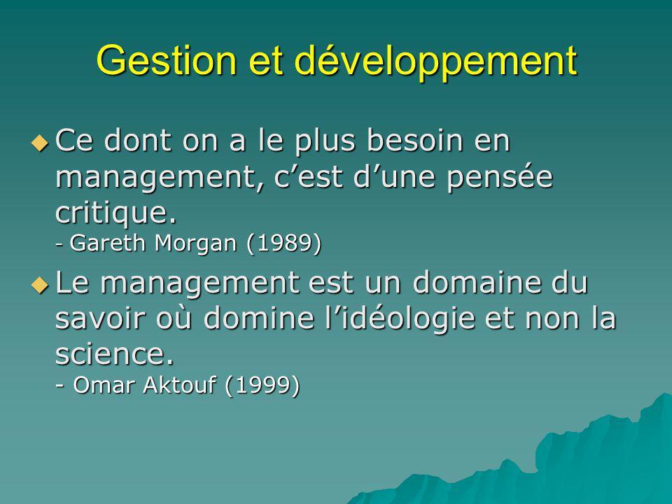 Gestion et développement