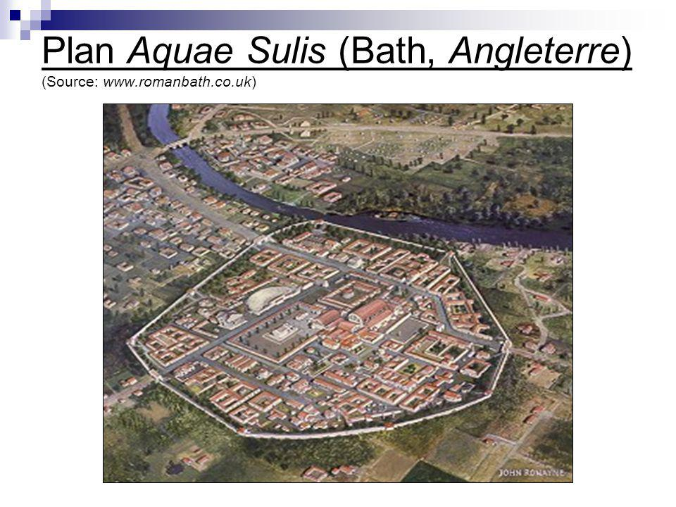 Plan Aquae Sulis (Bath, Angleterre) (Source: www.romanbath.co.uk)