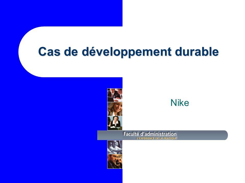 Cas de développement durable