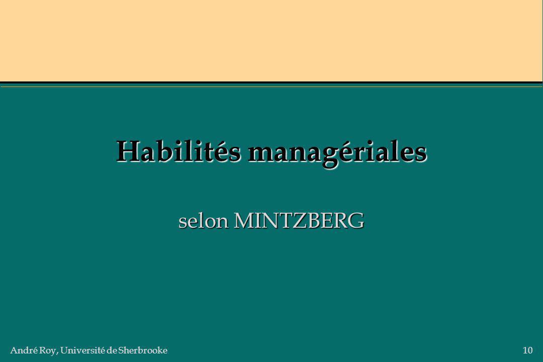 Habilités managériales