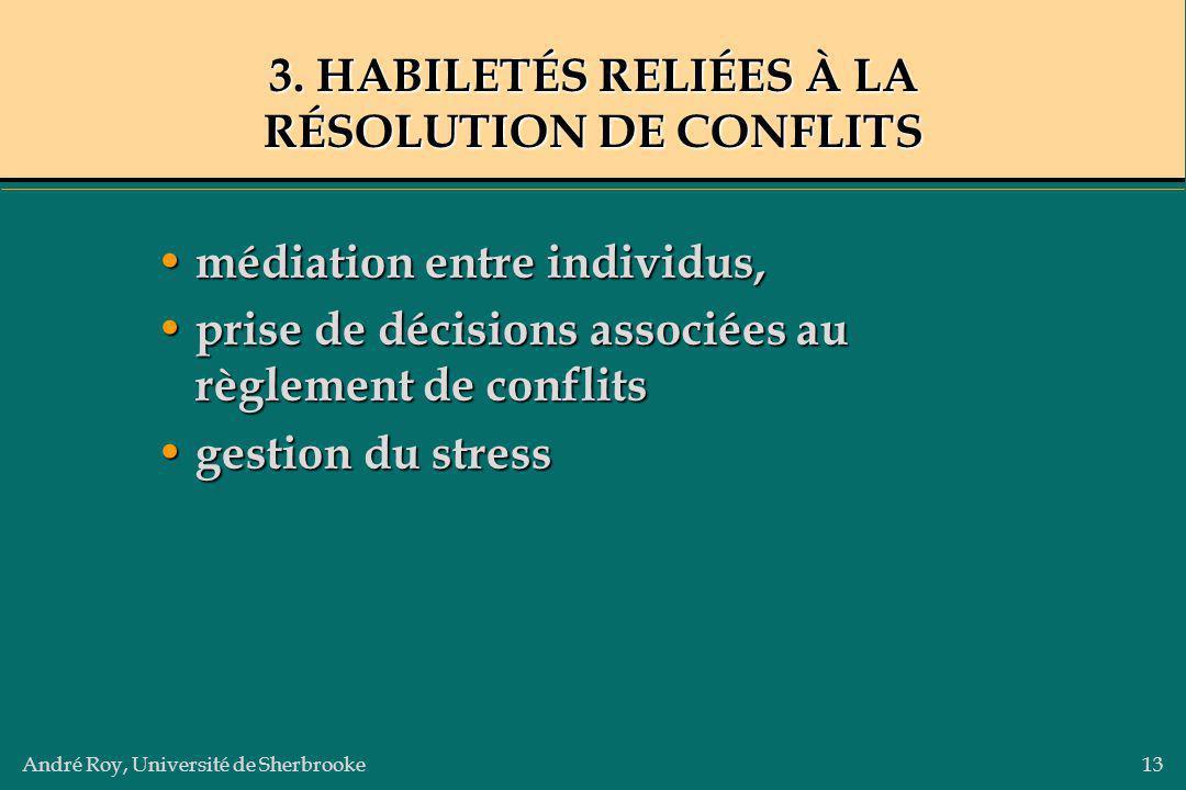 3. HABILETÉS RELIÉES À LA RÉSOLUTION DE CONFLITS