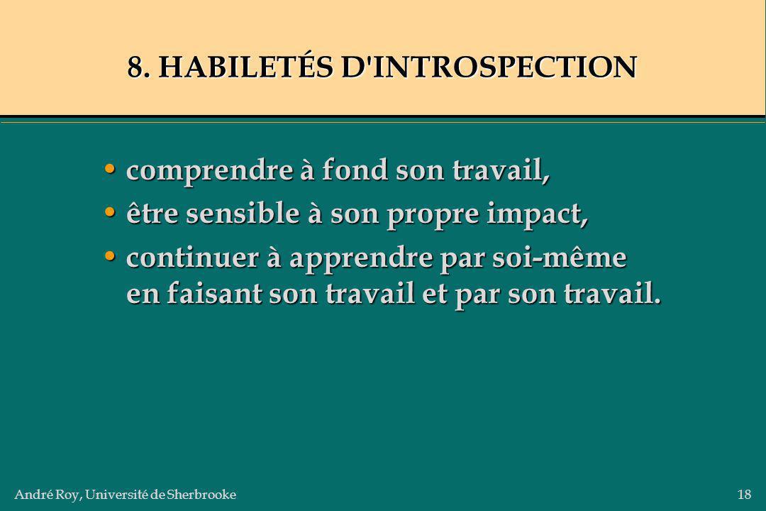 8. HABILETÉS D INTROSPECTION