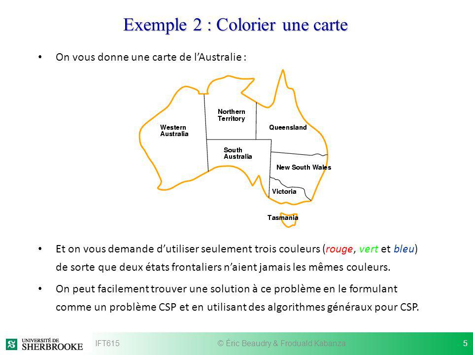Exemple 2 : Colorier une carte