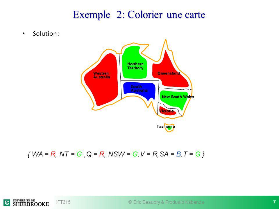 Exemple 2: Colorier une carte