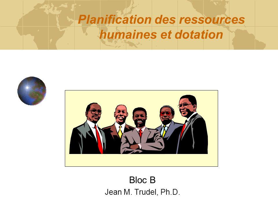 Planification des ressources humaines et dotation