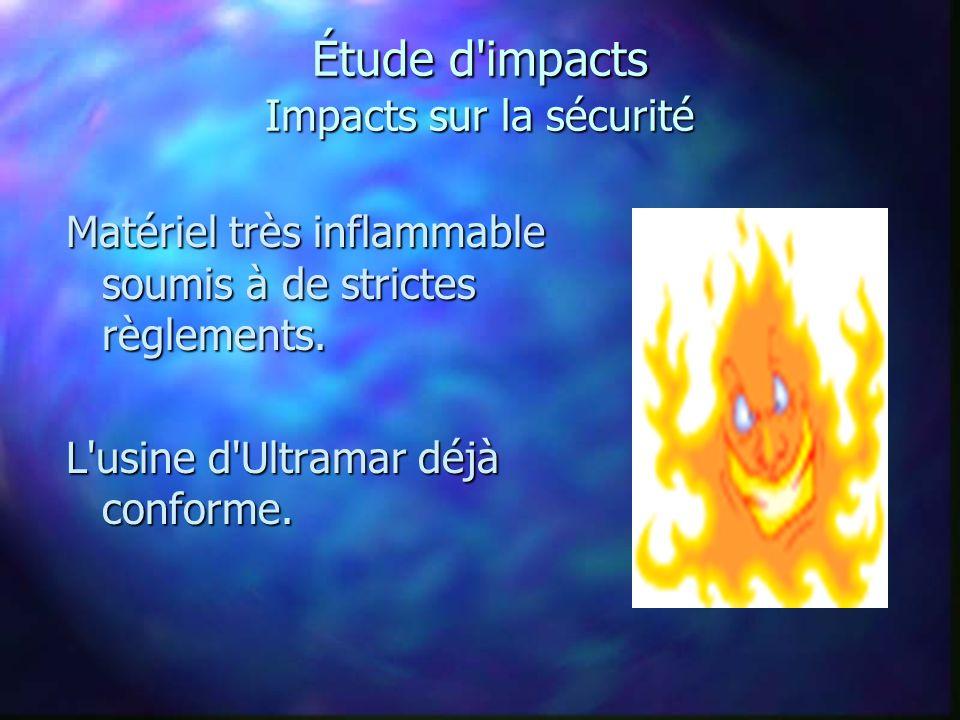 Étude d impacts Impacts sur la sécurité