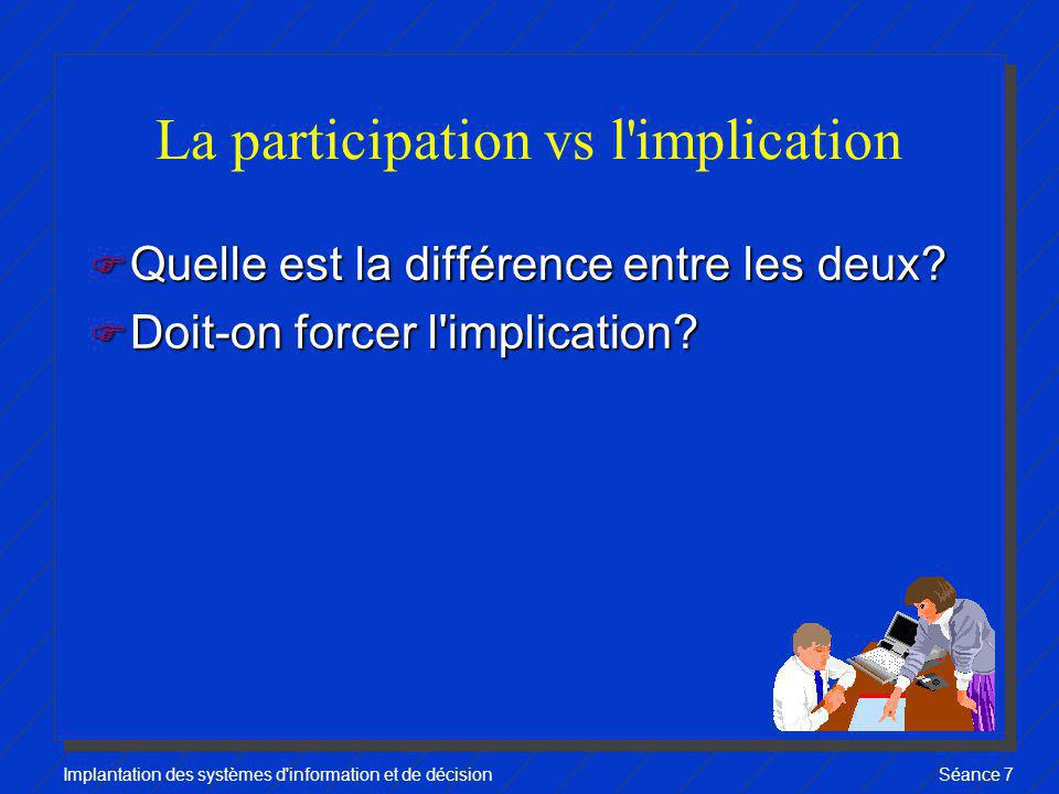La participation vs l implication