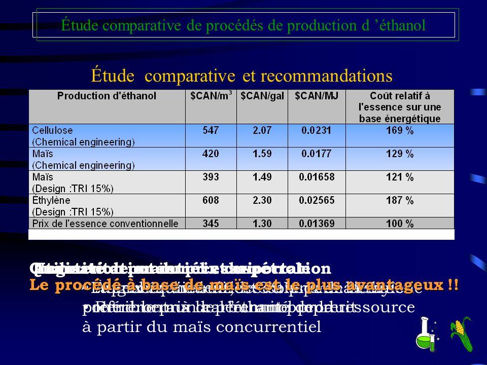 Étude comparative et recommandations