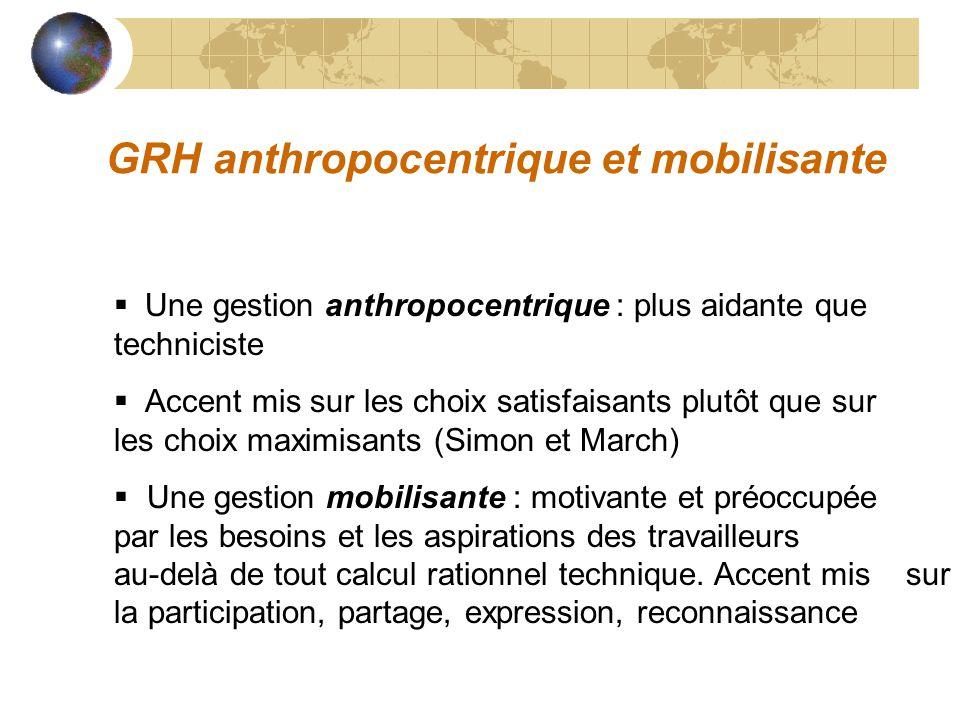 GRH anthropocentrique et mobilisante